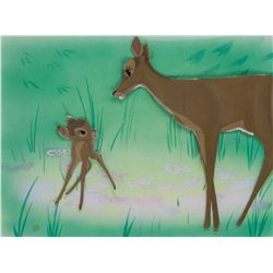 Original production cels of Bambi and his mother from Bambi