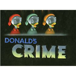 Original production title cel and background from Donald's Crime