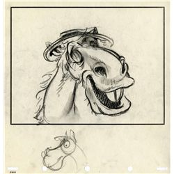 Original production storyboard drawing from The Adventures of Ichabod and Mr. Toad