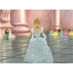 Original production cel and production background from Cinderella