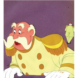 Two original production cels of the king from Cinderella
