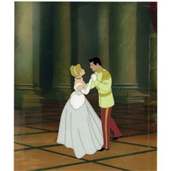 Original production cel of Cinderella and the prince from Cinderella