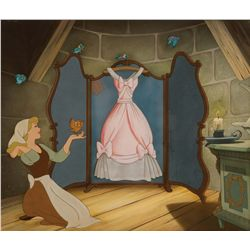 Original production cels and production background from Cinderella