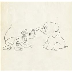Original production drawing from a 1950s Pluto short