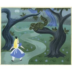 Mary Blair original concept painting from Alice in Wonderland