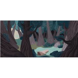 Original pan production background from Alice in Wonderland