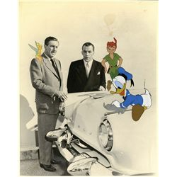 Original publicity photo with hand-painted cels from Ed Sullivan's Toast of the Town