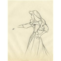 Two original production drawings from Sleeping Beauty
