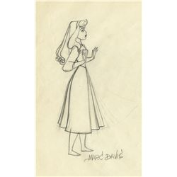 Original production drawing from Sleeping Beauty signed by Marc Davis