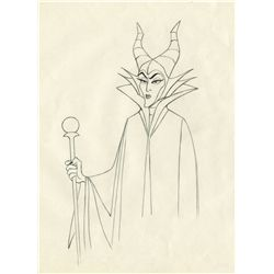 Original production drawing of Maleficent from Sleeping Beauty