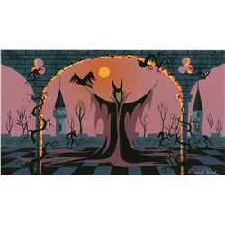 Eyvind Earle original color concept painting for Sleeping Beauty