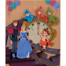Hand-Painted Studio publicity cel and background from Sleeping Beauty