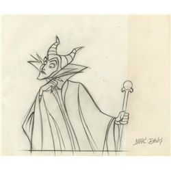 Original production cel, production drawing and production background from Sleeping Beauty