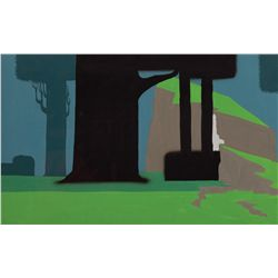 Eyvind Earle preliminary painting for Sleeping Beauty