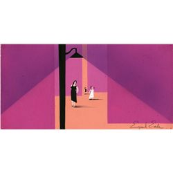 Eyvind Earle signed concept from West Side Story
