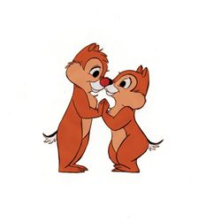 Original production cel of Chip and Dale