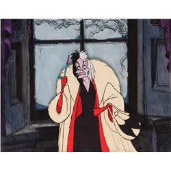 Original production cel and production background from 101 Dalmatians