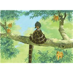 Original production cel and matching production background from The Jungle Book