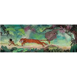 Original production cels and production background from The Jungle Book