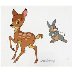 Bambi and Thumper cel signed by Marc Davis