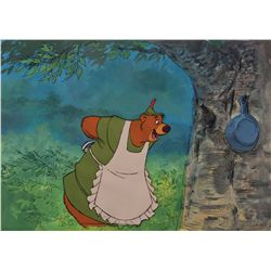Original production cel and matching production background from Robin Hood