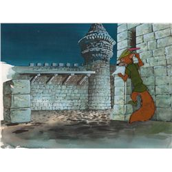 Original production cel and preliminary background from Robin Hood