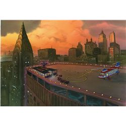 Original production background from The Rescuers