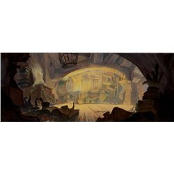 Preliminary production background from The Black Cauldron