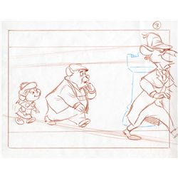Original production layout drawing from The Great Mouse Detective
