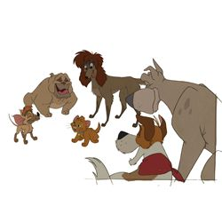 Original production Cels from Oliver and Company