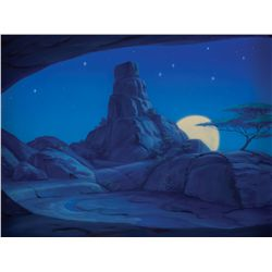 Original background color key painting for The Lion King