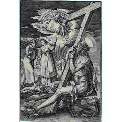 "Hendrik Goltzius Engraving ""Christus Als Schmerzensmann"" (Christ As Man Of Sorrows)"
