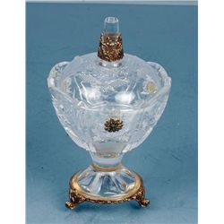 ITALIAN CRYSTAL LIDDED JAR