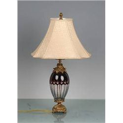 ITALIAN RED CRYSTAL LAMP