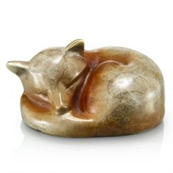 Sleeping Fox Bronze Sculpture