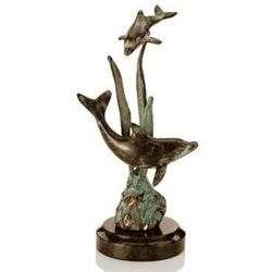 Double Dolphins Bronze Sculpture