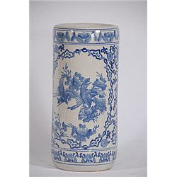 Antiqued Blue Toulled Vase