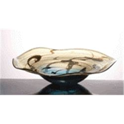 Hand Blown Art Glass Bowl