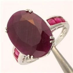 6.0 Ct. Ruby Ring - Oval Cut - 10kw Gold