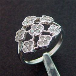 1/2 Ctw Champagn Diamond Antique Filigree Style Ring In 10k White Gold