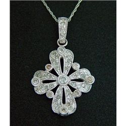 1 Ctw. Diamond Cross Pendant 10ky