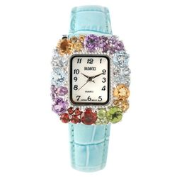 Badavici Multi-Gemstone Bezel Watch