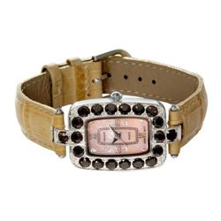Badavici Smokey Quartz Bezel Watch