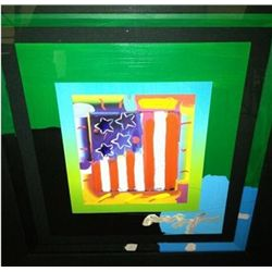 """Flag"" Peter Max Original Mixed Media"