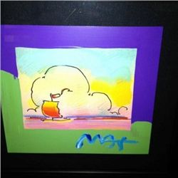 """Sailboat Series"" Peter Max Original Mixed Media"