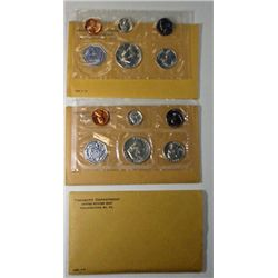 1962 THRU 1964 U.S. MINT PROOF SETS
