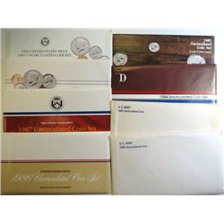 U.S. MINT UNCIRCULATED SETS OF THE 80'S  ( 8 ) SETS