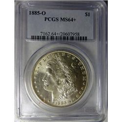1885-O MORGAN DOLLAR PCGS MS 64+