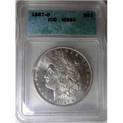 1887-O MORGAN DOLLAR ICG MS64 SUPER! EST $240-$255