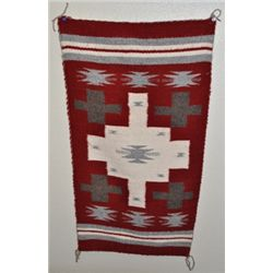 Navajo Red & White Rug